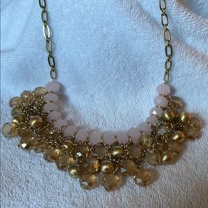 Gorgeous pink and gold necklace from Talbots.